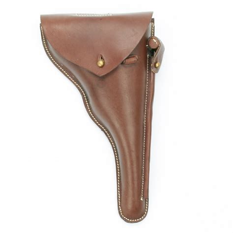 German WWI Navy Luger P04 Brown Leather Holster, Naval P