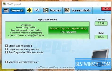 Fraps for Windows PC [Free Download]