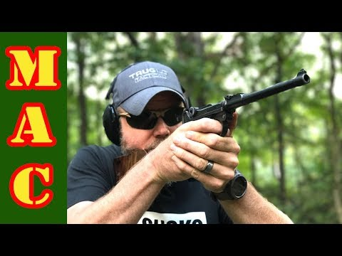 Shooting the Luger P08 9mm pistol - YouTube