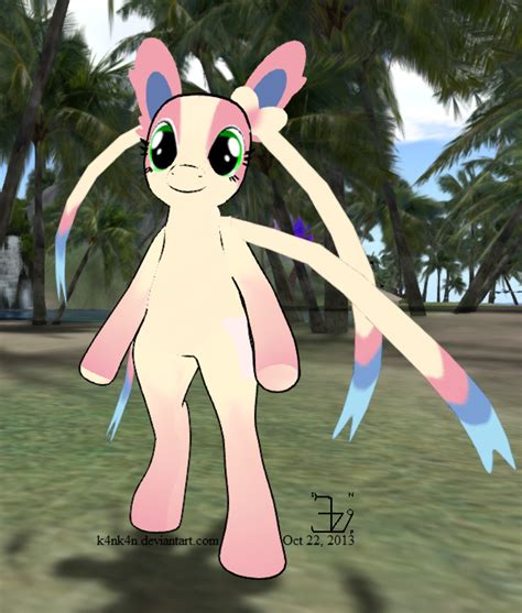 Sylveon mod EP standing pony 20131022 by K4nK4n on DeviantArt
