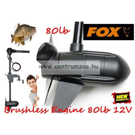 Fox Brushless Engine 80lb 12V Outboard Professional Trolling