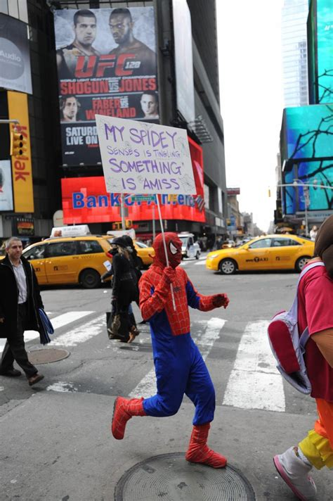 Times Square Spider-Man accused of groping woman - NY