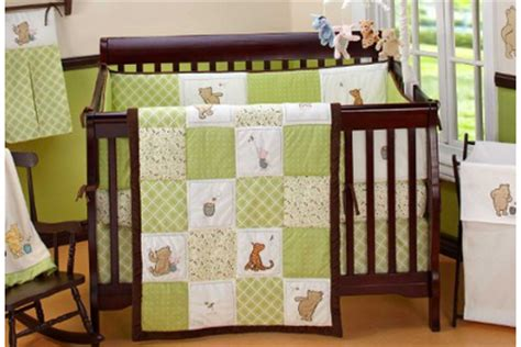 Winnie the Pooh Bedding for the Nursery in Sage - Bedding
